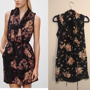 Wilfred Sabine dress size xs in black floral